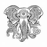 Mandala Elephant Coloring Pages Drawing Painting Svg Adult Zentangle Head Tattoo Butterfly Animal Mandalas Tribal Sold Etsy sketch template