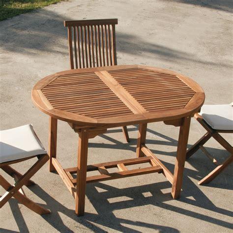 tavolo da giardino allungabile tavolo ovale in legno teak da esterno allungabile cm 120