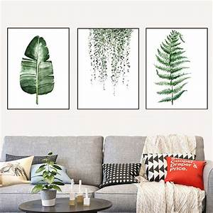 Posters, Prints, Wall, Art, Canvas, Painting, Green, Plants, Print, Wall, Pictures, For, Living, Room, Bedroom