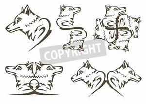 Symbole Du Loup : symboles de loup tribal tatouages t te de loup predator ~ Melissatoandfro.com Idées de Décoration