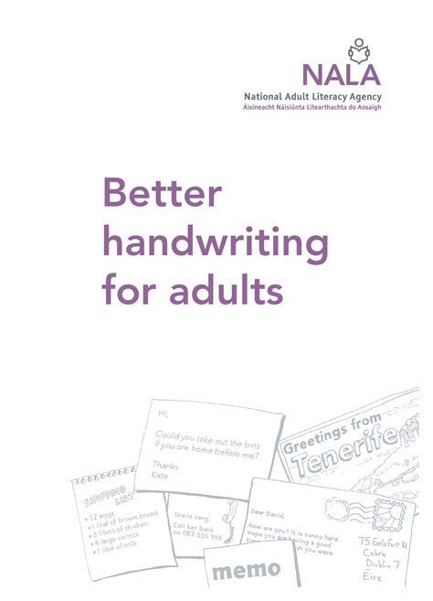 handwriting practice for adults improve handwriting