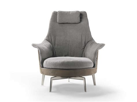 Swivel High-back Armchair Guscioalto Light By Flexform