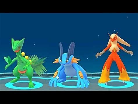 pokemon  gen  starter evolutions sceptileswampert