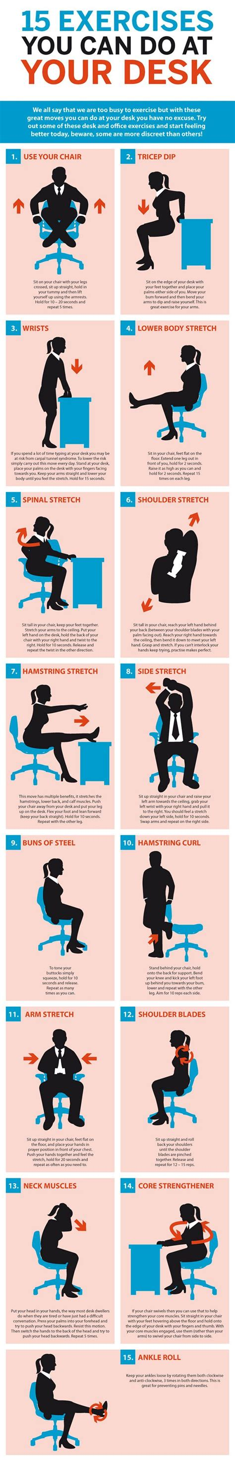 exercises to do at your desk with pictures 1000 images about exercises at work on pinterest