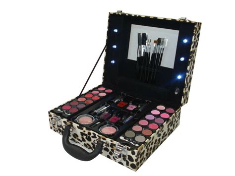 Professional Vanity Case Pink Light Up Cosmetic Makeup Box