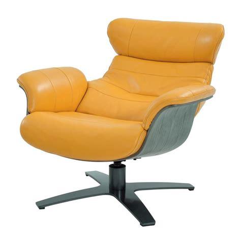 enzo yellow leather swivel chair el dorado furniture