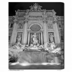 """Trevi Fountain"" Black & White Fine Art Gallery Wrapped ..."