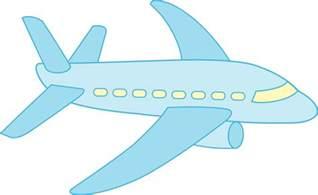 Blue Airplane Cartoon Clip Art Free