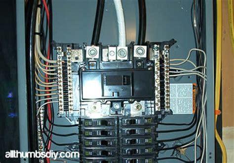 Installing New Subpanel Part Allthumbsdiy