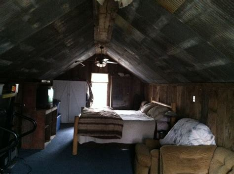 Attic Bedroom Old Barn Tin On The Ceiling And Barn Wood