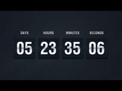 countdown clock js html css javascript tutorials web