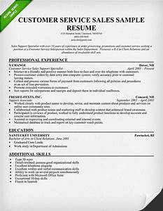 Customer service sales resume sample use this sample as for Customer service resume samples free