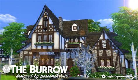 simsational designs  burrow  tudor house