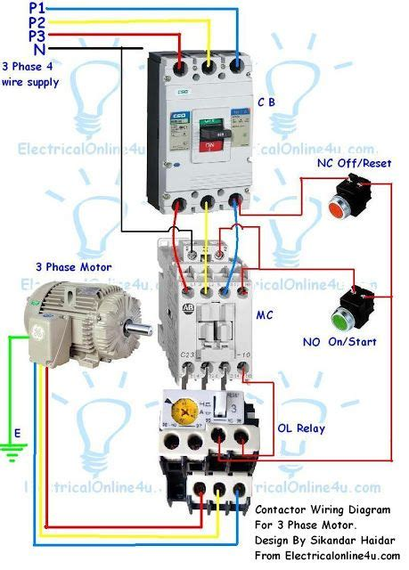 contactor wiring guide   phase motor  circuit