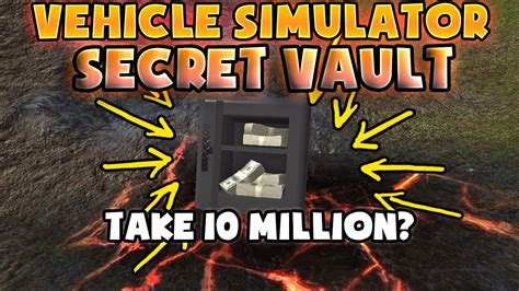 roblox vehicle simulator secret vault location