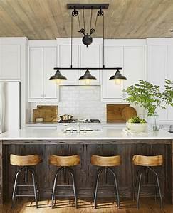 Two, Three, Light, Pulley, Pendant, Light, Kitchen, Island, Light, Adjustable, Industrial, Rustic