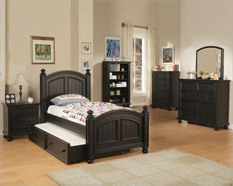 Winners Only Youth Bedroom Set Cape Cod In Ebony Wobe1001set