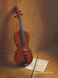 Violin Painting by Lynn Yoder