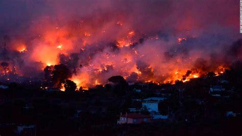 wildfires burn  greece cnn