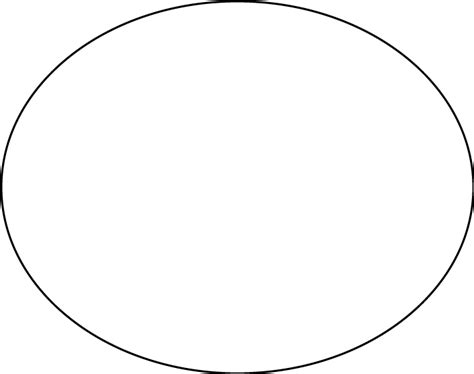 oval template oval shape template clipart