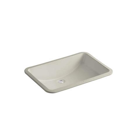 Shop Kohler Ladena Sandbar Undermount Rectangular Bathroom
