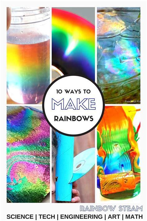 making rainbows stem experiments  kids rainbow