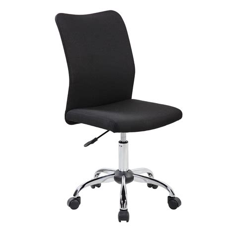 techni mobili modern armless desk chair in black rta k462 bk