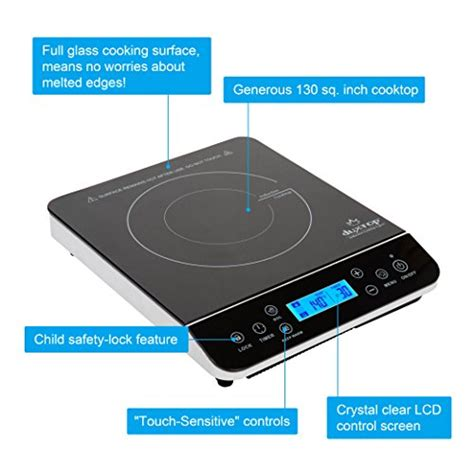 duxtop induction cooktop duxtop lcd 1800 watt portable induction cooktop countertop