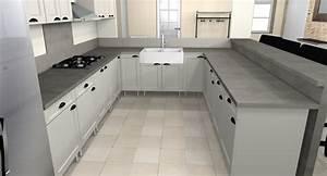 la cuisine en u dar deco decoration interieure maison With mod le de cuisine en forme de l