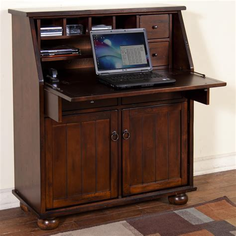 drop leaf secretary desk drop leaf laptop desk armoire by sunny designs wolf and