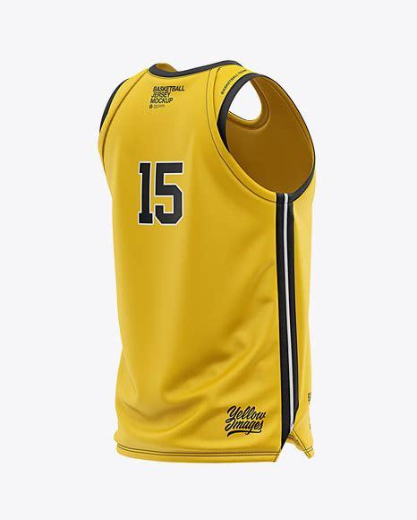 Womens heather sport shorts back view jersey mockup psd file 180.48 mb. Men's U-Neck Basketball Jersey Mockup - Back Half Side ...