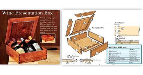 wine  box plans woodarchivist