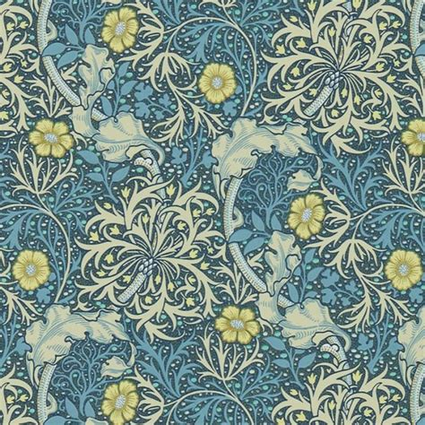 vintage home interior william morris wallcovering morris seaweed wallpaper in
