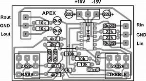 Soft Wiring  Layout Pcb Tone Control Apex