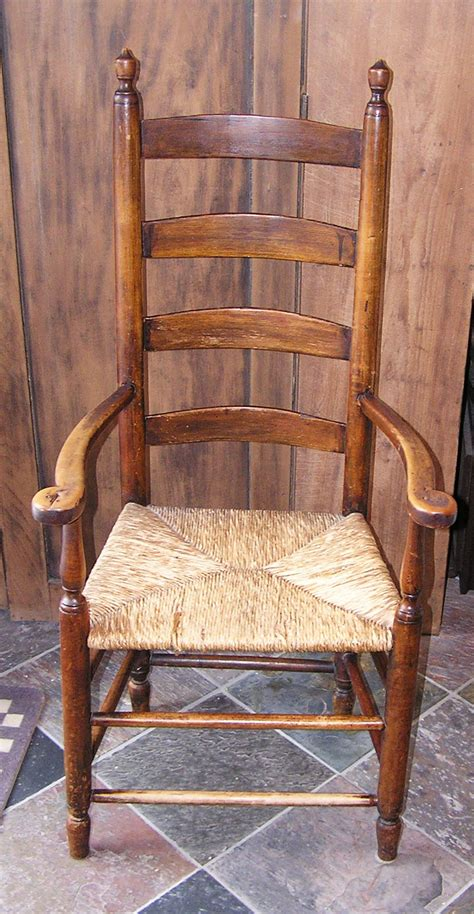 massachusetts shaker style ladder back seated arm