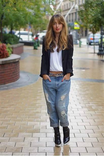 Street Boyfriend Jeans Chic Denim Bf Wear
