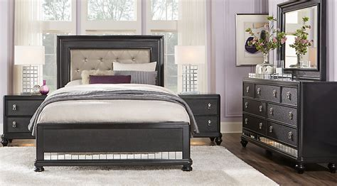sofia vergara paris black 5 pc queen bedroom queen