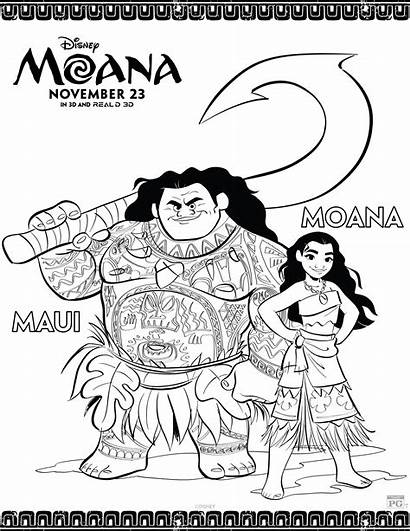 Moana Coloring Disney Sheets Disneys Activity