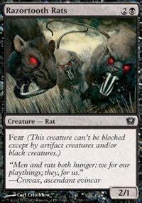 Rat Deck Mtg Tcgplayer by Razortooth Rats 9th Edition Magic The Gathering