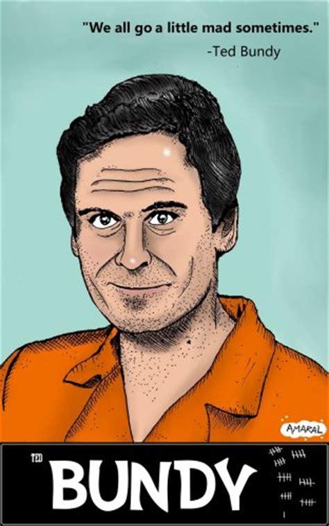 Ted Bundy Serial Killer Amaral Cartoons Poster