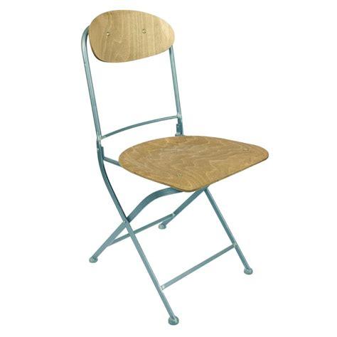 chaises metal lot de 2 chaises pliantes métal et bois knave par drawer fr