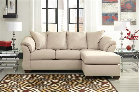 contemporary sofa chaise flared pillows
