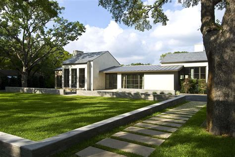 transitional style modernist home  dallas idesignarch