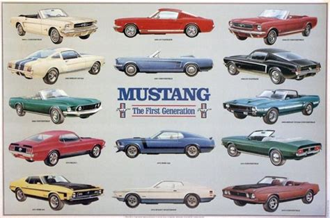 evolution  thefirst generation mustang timeline