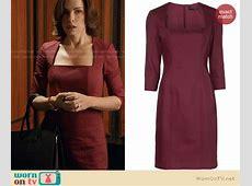 WornOnTV Alicia's red squareneck dress on The Good Wife