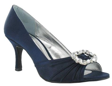 Lexus Ca015 Avi Navy Satin Occasion Shoes