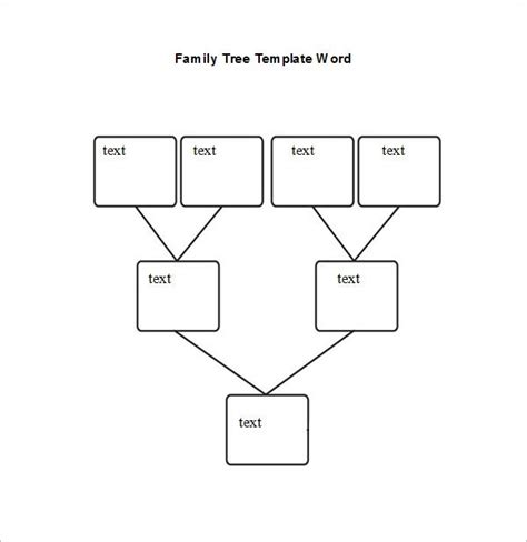 blank family tree chart   excel word documents