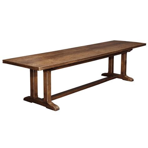 arts and crafts dining table arts and crafts oak refectory table at 1stdibs