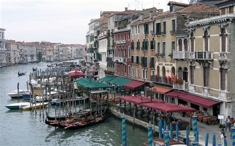 boats  venice city italy mystery wallpaper