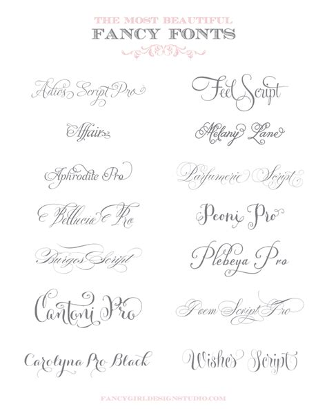 Beautiful Scripts And Fonts by The Most Beautiful Fancy Fonts Typefaces And Typography